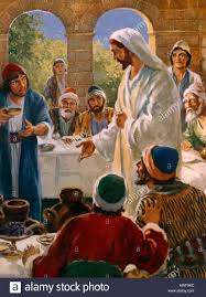 jesus at the wedding feast turns water into wine painting by henry