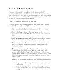 rfp cover letter template rfp response cover letter sle cover letter sle 2017 within