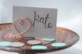 diy table number holders diy wire place card holders