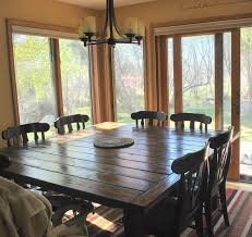 Large Square Dining Room Table Stylish Square Kitchen Table Seats 8 Marvelous Home Furniture