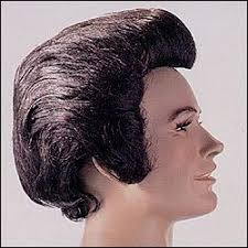plastic hair elvis pompadour wig by west bay wb31