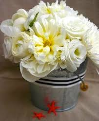 Tin Buckets For Centerpieces by Small Tin Bucket Dollar Store Navy Strip Ribbon U003d Perfectly