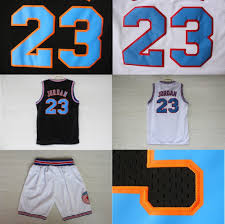 jordan space jams online shop 23 michael jordan space jam jersey white black cheap