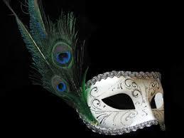 peacock masquerade masks decor piume white silver peacock venetian masquerade mask