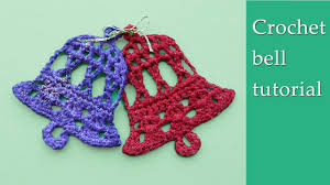 crochet bell christmas decoration tutorial youtube