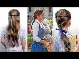 emma watson hairdos easy step by step emma watson belle peasant hairstyles youtube
