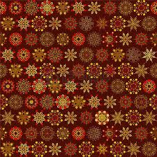 new year wrapping paper seamless vintage background with delicate ornament snowflakes on