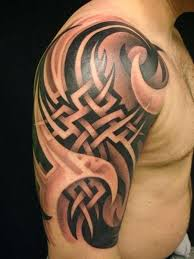 tribal designs for half sleeve with half sleeve