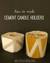 How To Make Homemade Concrete by Diy Concrete Candle Holders Twelveoeight