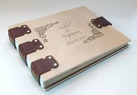 leather photo albums engraved personalized wedding album guest register guest book