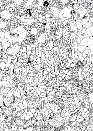 hard cool coloring pages fairy coloring