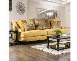 Gold Fabric Sofa Viscontti Traditional Style Gold Fabric Chair