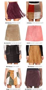 Blank Nyc Patchwork - whimsical charm my favorite suede skirts this fall