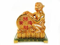 Buddha Statues Home Decor Golden Monkey Statue With Feng Shui Coin For Year Of Monkey 2016