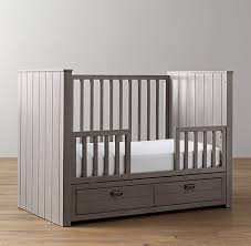 storage panel crib toddler bed conversion kit