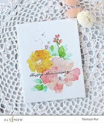 water color cards happy anniversary featuring altenew s watercolor wonders sts