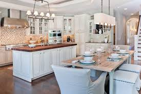 Transitional White Kitchen - contemporary kitchen kitchen table lighting kitchen transitional