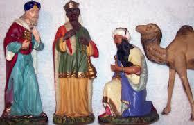 vintage nativity figures golden glow