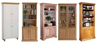 Wood Bookcase With Doors Bookcases Ideas Wood With Doors Design Bookshelf Throughout