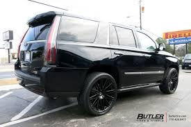 cadillac escalade with black rims cadillac escalade with 24in black rhino zulu wheels exclusively
