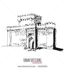 urban sketching u201c set von rana hasanova auf shutterstock