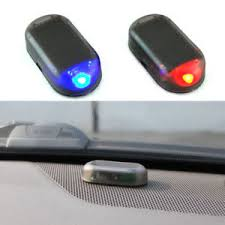 security led lights car car solar power led fake dummy alarm warning security anti theft