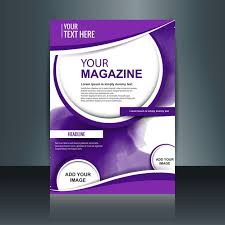 purple magazine template vector free download