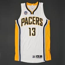 paul george indiana pacers worn regular season jersey
