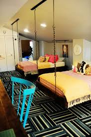 Suspended Loft Bed From Ceiling by Hanging Home Design Bedroom Loft Beds That Hang From The