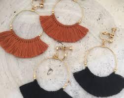 on earrings clip on earrings etsy nz