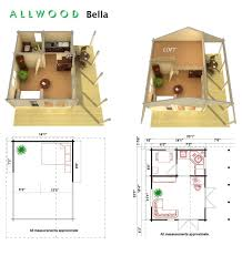 amazon com allwood bella 237 sqf kit cabin with 86 sqf loft
