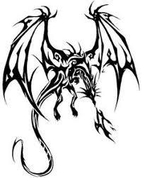 black dragon tattoo design on white background vintage engraved
