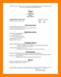 College Admission Resume Sample by 7 Resume For College Application Nurse Homed