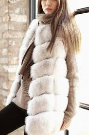 white dyed artificial fox fur vest us 45 95 yoins