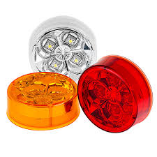 red led marker lights round led truck and trailer lights 2 1 2 led side clearance
