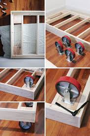 Making A Wooden Bed Platform by Best 25 Trundle Bed Frame Ideas On Pinterest Girls Trundle Bed