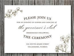 invitation wording wedding reception verbiage hnc