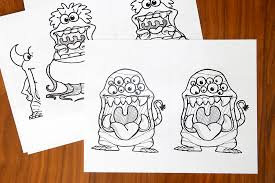 printable big mouth monster coloring pages it u0027s always autumn