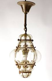 Indoor Lantern Pendant Light by Vintage Murano Seguso Cage Lamp Bohemian Pendant Lantern Hand