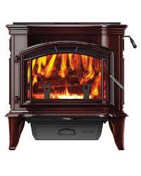 quadrafire explorer iii porcelain mahogany wood stove coastal