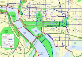 commute map bike washington downtown commute routes