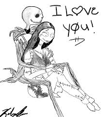 jack and sally free coloring pages on art coloring pages