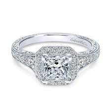 princess cut engagement rings white gold 14k white gold princess cut halo with channel setting 14k