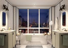 small bathroom fabulous paint ideas dark brown interesting decor new brooklyn condos for sale in boerum hill the residences white ceramic subway tiles are artfully bathroom