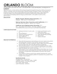 resume sample media templates music education examples industry
