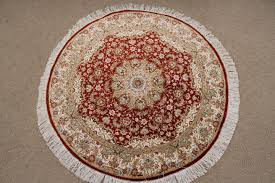 Red Round Rug Round Persian Rugs Carpets U0026 Oval Persian Rugs