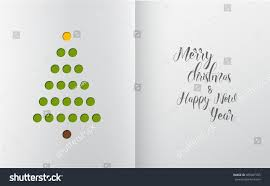 Minimalistic Christmas Tree Made Holes White Stock Vector