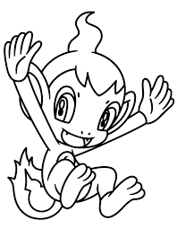 pokemon chimchar coloring pages car pictures throughout tinkerbell
