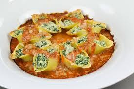 fr recette de cuisine conchiglionis farcis à la ricotta et aux épinards recette
