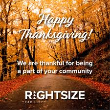 rightsize facility gives thanks